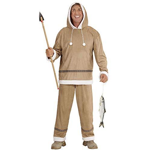 Widmann Eskimo, 05561, kostuum voor volwassenen, bovendeel met capuchon en broek S Small multicolor
