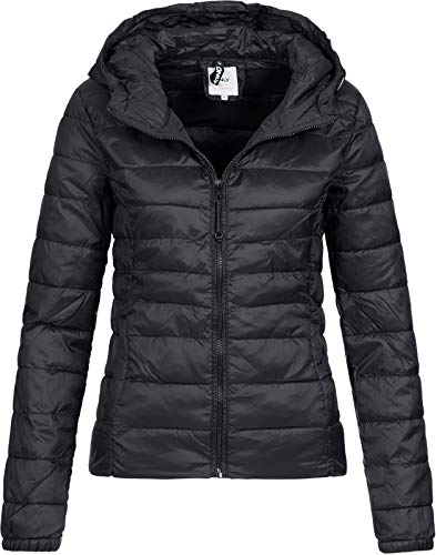 ONLY Damen Übergangs Steppjacke Tahoe Hood (18) Kapuze 15156569 Black M