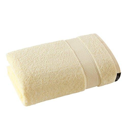 mangeoo reine Baumwolle Absorption von Wasser, Erwachsene Kinder Und Männer Hotel Badetuch Wrap Weiche und cremige gelb Badetuch, 140x 80cm