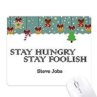 スティーブ・ジョブスからの引用 ゲーム用スライドゴムのマウスパッドクリスマス
