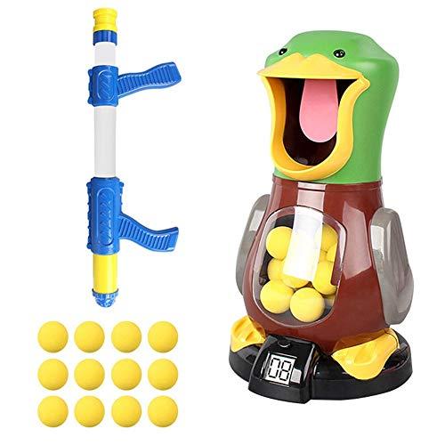 Partido del juego del juguete Hit My Duck Pneumatic Single Gun Versión Safety Children Toy Gun Pneumatic Soft Bullet Adecuado para niños Entretenimiento para adultos Regalos y sonido Regalos (solo 12