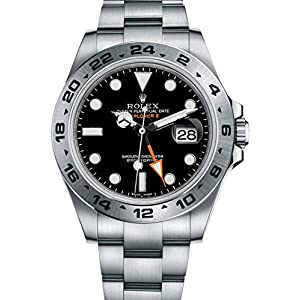 Fashion Shopping Rolex Explorer II Black Dial Stainless Steel Men's Watch