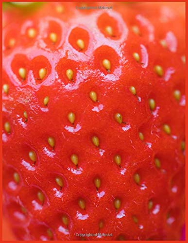 Strawberry Notebook: Stunning Strawberry Journal, 8.5' x 11', 110 pages, matte...