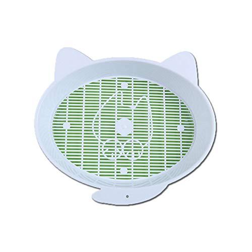 Sungpunet 1 Satz von niedlichen Comic-Katze Sandkasten kreativer Doppelkatzentoilette Portable halbgeschlossenen grüner Haustiertoilette