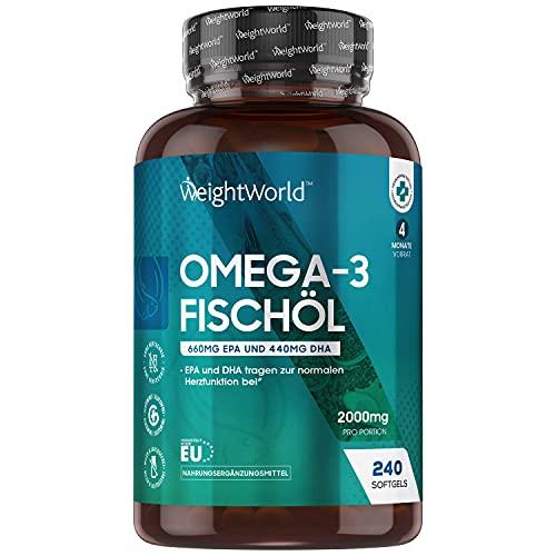 WeightWorld 2000mg Fischöl je 240 1100mg Bild