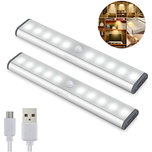 2PCS led Armadio Sensore Movimento Luce, Wireless...