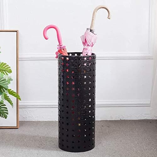 HOMRanger Super Quality Umbrella Stand, Eingangsbereich D & Eacute; COR, Geschnitzte zylindrische Form (Home Modern Metal Umbrella Stand) Regenschirmeimer (mit Tropfschale) (Farbe: Weiß)