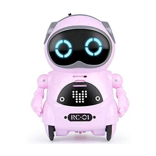 ポケットロボットPocketRobotミニサイズコミュニケーションダンス歌スマートロボット(ピンク)