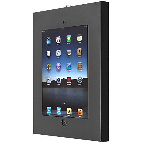 SecurityXtra SecureDock Uno - Flat to Wall Mount & Enclosure for iPad 2/3/4/Air/Air 2/iPad and Pro 9.7'' - Black