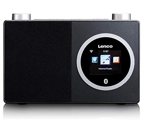 "Lenco DIR 70 - Internetradio - DAB+ Radio - Digitalradio - W-LAN - Bluetooth - 2,4"" Farbbildschirm - 3 Watt RMS Ausgangsleistung - App Steuerung via AirMusic - Retrodesign - Schwarz"
