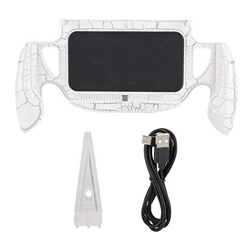 Console de Jeu Grip, Dazzle Color Lights Console de Jeu Grip Gamepad - Étui de Protection Ergonomique pour Switch Lite avec Technologie d'injection de Carburant de Haute qualité(Blanc)