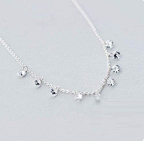 Mxdztu Co.,ltd Collar de Alta joyería Collar de Personalidad con Soporte Redondo geométrico de Doble Fila