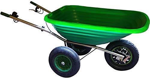 Smartwiel CARRETILLA ALIMENTADA POR BATERÍA SMARTWIEL DELUXE 125 l, Verde CAPACIDAD: 80 kg