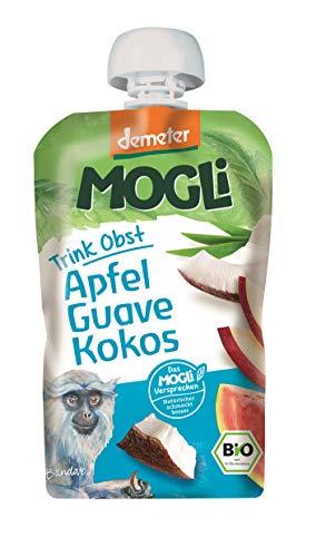MOGLi Bio Demeter Trink Obst Quetschbeutel Kokos 12er Quetschie Pack (12x 100g)