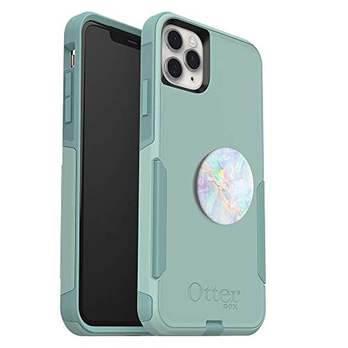 Bundle: OtterBox Commuter Series Case for iPhone 11 Pro Max - (Mint Way) + PopSockets PopGrip - (Opal)
