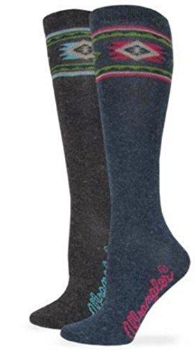 Wrangler Ladies' Angora Aztec Boot Socks