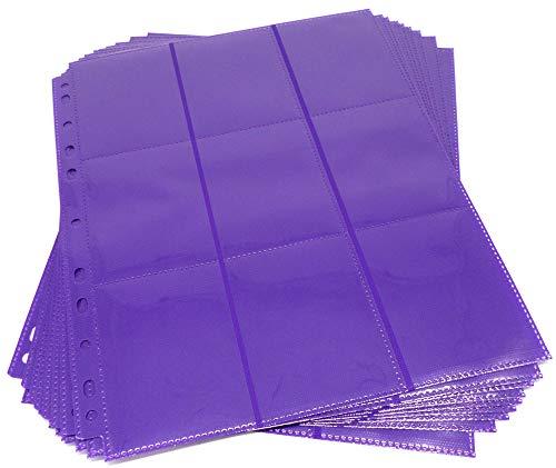 docsmagic.de 10 18-Pocket Pages Purple - Sideloading - 11 Holes - MTG PKM YGO - Pagina Púrpura
