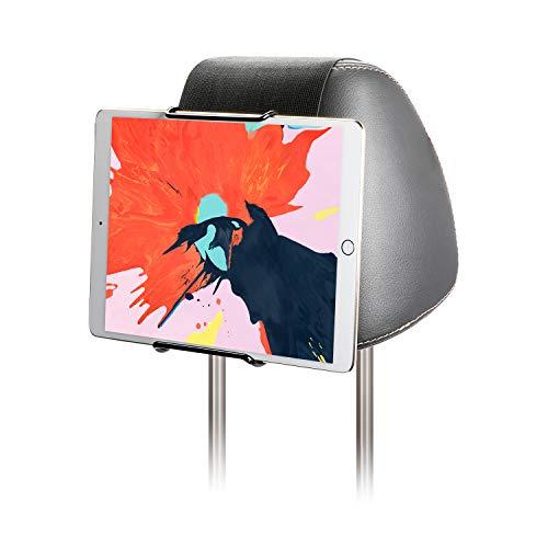 Hikig Car Headrest Mount Holder for 7-11' Tablets, Apple iPad, iPad Mini/Air/Pro, Samsung Galaxy Tabs - Adjustable Strap Fits Most Headrests, Universal Car Headrest Mount for Most Tablets - Black