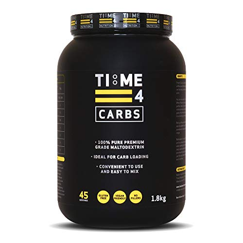 Time 4 Carbs 1.8kg Carb Powder – 100% Pure Unflavoured Premium Grade Maltodextrin Powder – High Calorie Weight Gain Powder – Vegan Carbohydrate Powder – Carbohydrate Supplement