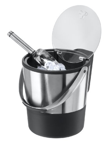 Oggi 7311AM 7311 Ice Bucket, 4-Quart, Stainless Steel/Black