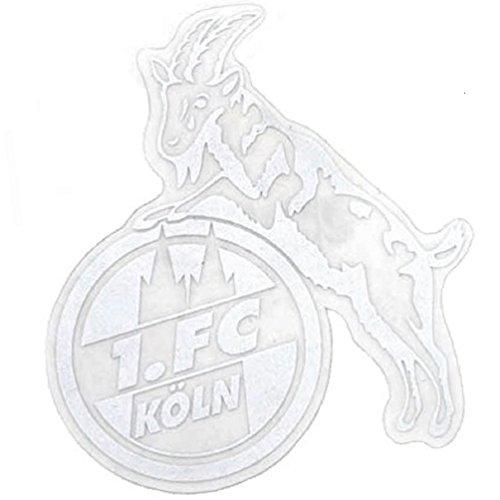 1. FC Köln Aufkleber transparent klein (Silber) - Plus gratis Aufkleber Forever Köln