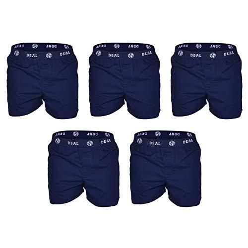 D.E.A.L International 5er-Set Boxershorts mit Logo-Bund in dunkelblau Size XL