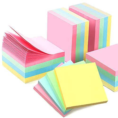 Sticky Notes 3x3 inch, 40 Pads Colored Sticky Notes,Self-Sticky Note Pads Post at Office, 100 Sheets/Pad, 4 Pastel Colors