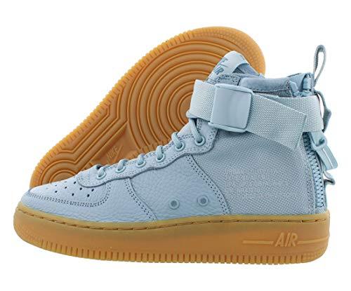 Nike Nike Sf Air Force 1 masculino juvenil médio Aj0424-401, Ocean Bliss/Ocean Bliss, 6 Big Kid