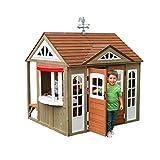KidKraft P280097 Maison de Jeu pour Enfants en Bois Country Vista, Maisonnette Cabane Jardin (FSC)