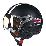 Sportinents Casco Moto Casco Integrale Casco Scooter 3/4 Omologato ECE Harley Union Jack L