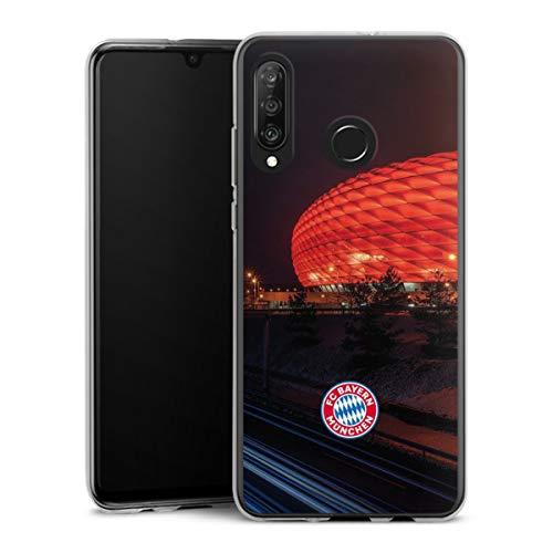 DeinDesign Silikon Hülle kompatibel mit Huawei P30 Lite Case transparent Handyhülle FCB Stadion FC Bayern München
