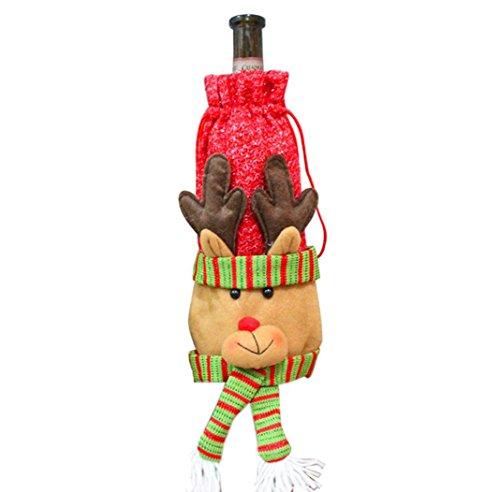 Ouneed® Noel Decor Housse pour Vin 30cm*15cm (30cm*15cm)