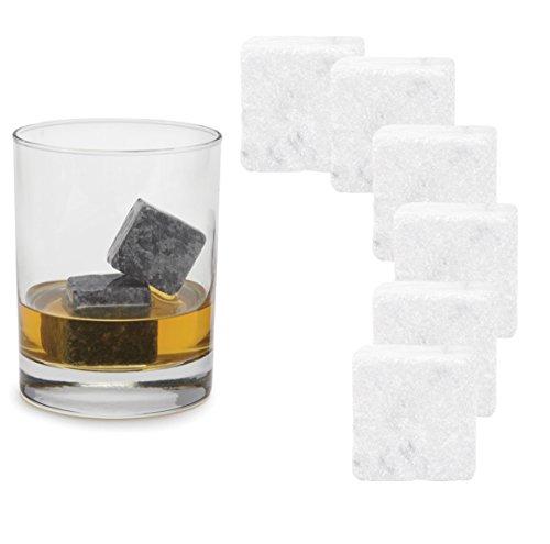 Wagners Whisky Stone Kühlsteine - Getränkkühler ohne Verflüssigung für Gin, Bourbon, (Speckstein Weiss)