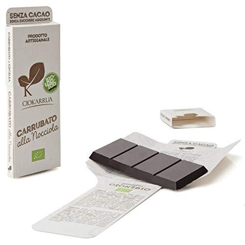 チョカッルーア キャロブ カルッバート ヘーゼルナッツ (50g) [イタリア シチリア] | CIOKARRUA 無糖 EUオーガニック認定 | ギフト プレゼント カカオ50% ヴィーガン 板チョコ スイーツ チョコレート