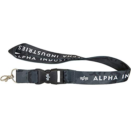 Alpha Industries Lanyard Schlüsselband (one size, black camo)