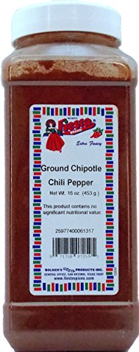Bolner's Fiesta Extra Fancy Ground Chipotle Chili Pepper, 16 Ounces