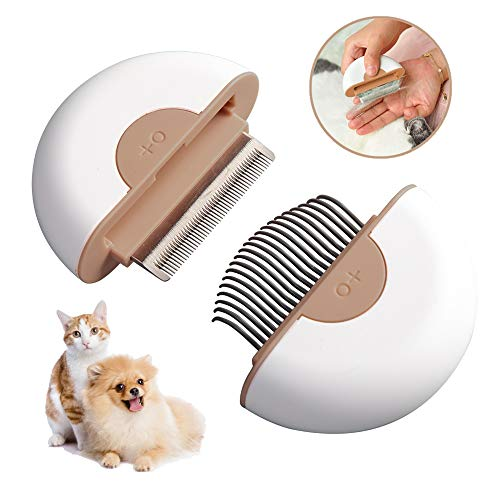 Dog Brush for Shedding Cat Brush Hair Remover Grooming Massage Comb Deshedding Brushes 2-in-1 Grooming Tools for Kitty/Pup/Pet,Knaki
