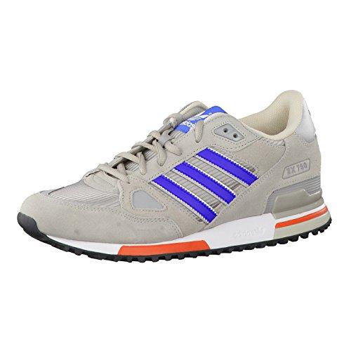 adidas Herren Zx 750 Sneaker, Multi Light Brown Bold Blue MGH Solid Grey, 44 EU