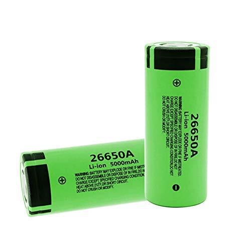 2 Pack 100% Original 26650 5000Mah 26650A Li-Ion 3,7 V Batería Recargable Para Linterna Led Batería De Antorcha