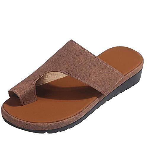 MIAOXIAO Mujer Sandalias Correctoras Sandalias Cómodas De Plataforma Bunion Corrector Zapatos Pies Playa Ortopédica Zapatillas,C,42