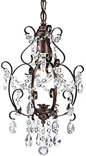 Bronze Chandelier Crystal Mini Chandelier Lighting 1 Light Ceiling Light Fixture 17043