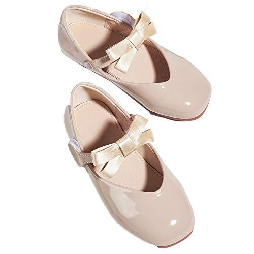 Zapatos Mary Jane para niñas Zapatos de Princesa Antideslizantes Planos con Punta...