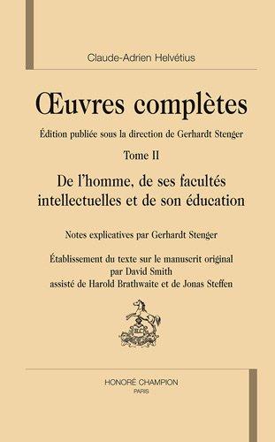 De l'homme, de ses facultés intellectuelles et de son éducation (AL 61)