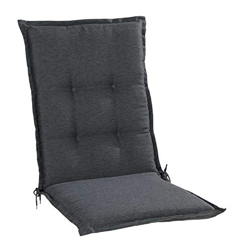 Nicht Zutreffend Sesselauflage Sitzpolster Gartenstuhlauflage für Mittellehner | 50 cm x 110 cm | Dunkelgrau | Polyester