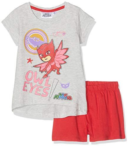 Pyjamasques Mädchen Zweiteiliger Schlafanzug 6098 Gris, 6 Jahre