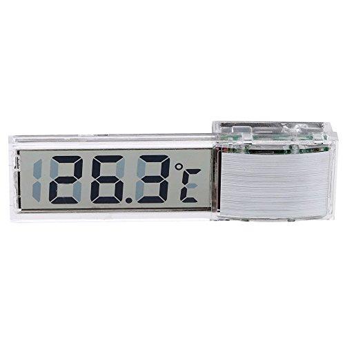 SODIAL Mini termometro digital transparente LED Medidor