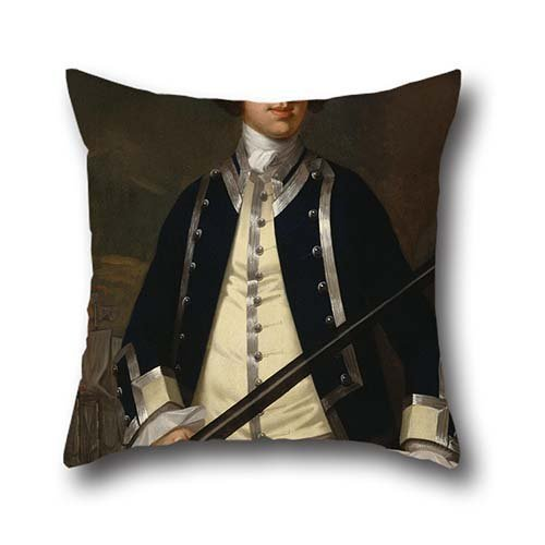 oil painting John Wollaston - Portrait of a Naval Officer, Known as Augustus Keppel cushion cases ,best for her,dinning room,pub,bar seat,valentine,chair 20 x 20 inches / 50 by 50 cm(double sides)