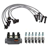 Denso Ignition Coil Wire Set 6 Iridium Power Spark Plugs Kit For Ford Mustang V6