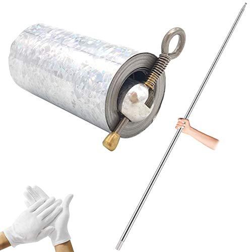 59 Inches/150 cm Magic Pocket Staff Metal Staff Adult Professional Pocket Magic Wand, Magician Props, Telescopic Martial Arts Stick (1.5M)