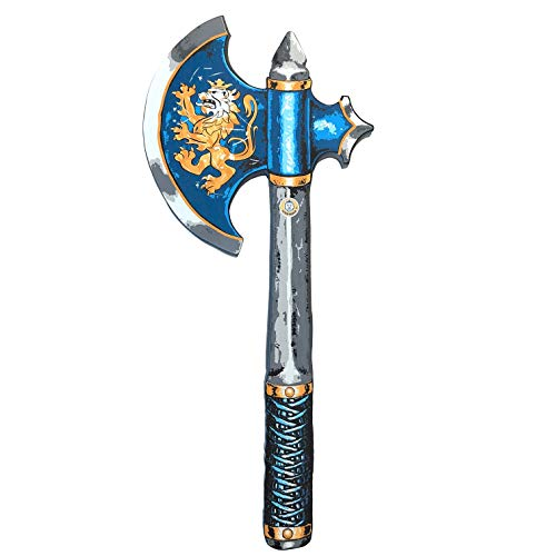 Liontouch 10300LT Mittelalter Edler Ritter Spielzeug Schaumstoff Axt für Kinder, Blau | Teil von Kostüm mit Schild und Zubehör